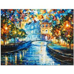 "Leonid Afremov (1955-2019) ""House on the Hill"" Limited Edition Giclee on Canvas, Numbered and Signed"