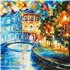"""Image 2 : Leonid Afremov (1955-2019) """"House on the Hill"""" Limited Edition Giclee on Canvas, Numbered and Signed"""