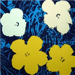 "Andy Warhol ""Flowers 11.72"" Silk Screen Print from Sunday B Morning."