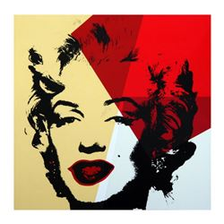 "Andy Warhol ""Golden Marilyn 11.42"" Limited Edition Silk Screen Print from Sunday B Morning."