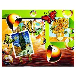 "Alexander Astahov- Original Oil on Canvas ""Van Gogh Room"""