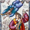 """Image 2 : Michael Kachan, """"String Duet"""" Hand Embellished Limited Edition Serigraph on Canvas, Roman Numbered I"""