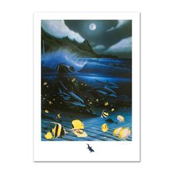 """Hanalei Bay"" Limited Edition Mixed Media by Famed Artist Wyland, Numbered and Hand Signed with Cert"