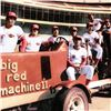 """Image 2 : """"Big Red Machine Tractor"""" Framed Lithograph Signed by the Big Red Machine's Starting Eight, with Cer"""