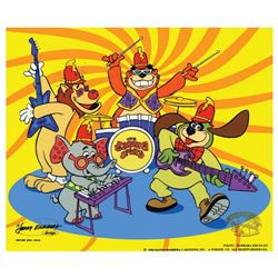Tra La La  Limited Edition Sericel featuring The Banana Splits from Hanna-Barbera. Includes Certifi