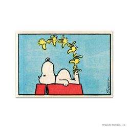 "Peanuts, ""Friends"" Hand Numbered Limited Edition Fine Art Print with Certificate of Authenticity."