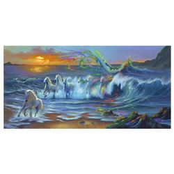 "Jim Warren, ""Living Color"" Hand Signed, Artist Embellished AP Limited Edition Giclee on Canvas with"