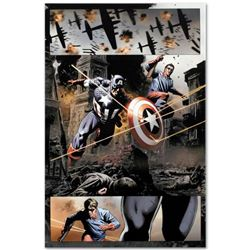 "Marvel Comics ""Captain America #37"" Numbered Limited Edition Giclee on Canvas by Steve Epting with C"