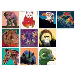 Andy Warhol- Screenprint in colors (Set of 10)  Endangered Species