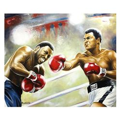"Dimitry Turchinsky- Original Oil on Canvas ""Ali vs Frazier"""