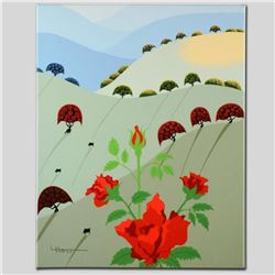 """Pushing Up Roses"" Limited Edition Giclee on Canvas by Larissa Holt, Numbered and Signed. This piece"