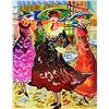 """Image 2 : Patricia Govezensky- Original Watercolor with Hand Painted Frame """"Cafe De Paris"""""""