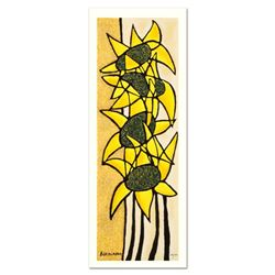 "Avi Ben-Simhon, ""Sunflower Trio"" Limited Edition Serigraph, Numbered and Hand Signed with Certificat"
