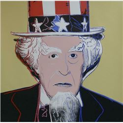 "Andy Warhol- Screenprint in colors with diamond dust ""Uncle Sam, 1981"""