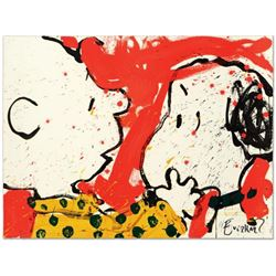 "Tom Everhart- Hand Pulled Original Lithograph ""Doggie Dearest"""