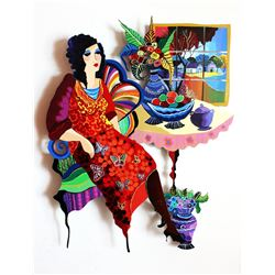 Patricia Govezensky- Original Painting on Cutout Steel  Fruitful Life II