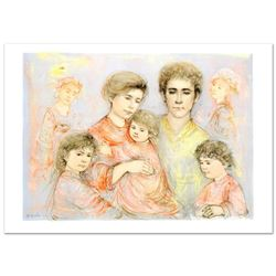 Michael's Family  Limited Edition Lithograph (36  x 26 ) by Edna Hibel (1917-2014), Numbered and Ha