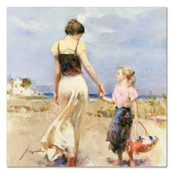 """Pino (1939-2010), """"Lets Go Home"""" Artist Embellished Limited Edition on Canvas, Numbered and Hand Sig"""