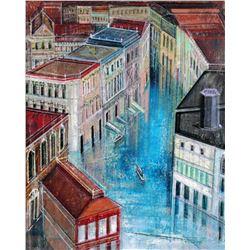 Alex Zwarenstein  Jewel Canal  Giclee on Canvas