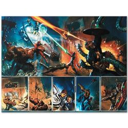 """Marvel Comics """"Secret War #4"""" Numbered Limited Edition Giclee on Canvas by Gabriele Dell'Otto with C"""