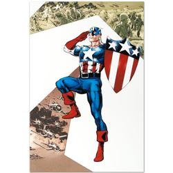 "Marvel Comics ""Captain America Corps #2"" Numbered Limited Edition Giclee on Canvas by Phil Jimenez w"