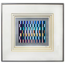 "Yaacov Agam- Original Lithograph ""Untitled"""