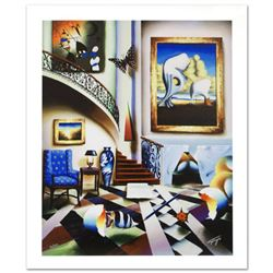 """Surrealist Stairway"" Limited Edition Giclee on Canvas by Ferjo, Numbered and Hand Signed by the Art"