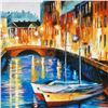 """Image 2 : Leonid Afremov (1955-2019) """"Evening River"""" Limited Edition Giclee on Canvas, Numbered and Signed. Th"""