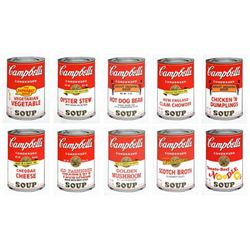 "Andy Warhol- Silk Screen (Portfolio consisting of 10 different Soup Cans) ""Campbell's Soup Can Serie"