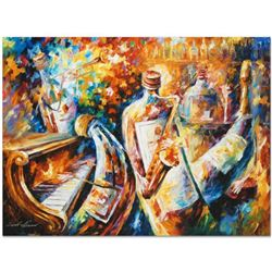 "Leonid Afremov (1955-2019) ""Bottle Jazz I"" Limited Edition Giclee on Canvas, Numbered and Signed. Th"