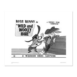 """Wild and Wooly, Bugs Fence"" Numbered Limited Edition Giclee from Warner Bros. with Certificate of A"