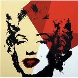 "Andy Warhol- Silk Screen ""Golden Marilyn 11.42"""