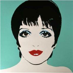 "Andy Warhol- Screenprint in colors ""Liza Minnelli (Green)"""