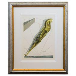 "Salvador Dali- Original Color Woodcut on B.F.K. Rives Paper ""Inferno 14"""