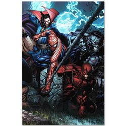 "Marvel Comics ""Ultimatum #4"" Numbered Limited Edition Giclee on Canvas by David Finch with COA."