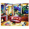 "Image 1 : Alexander Astahov- Original Oil on Canvas ""Chilling Room"""