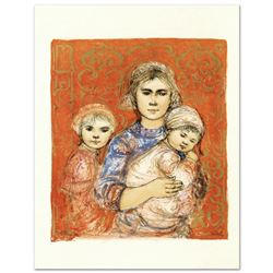 """Jenet, Mary and Wee Jenet"" Limited Edition Lithograph by Edna Hibel (1917-2014), Numbered and Hand"