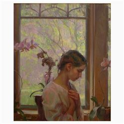 "Dan Gerhartz, ""The Orchid"" Limited Edition on Canvas, Numbered and Hand Signed with Letter of Authen"