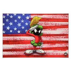 "Looney Tunes, ""Patriotic Series: Marvin"" Numbered Limited Edition on Canvas with COA. This piece com"