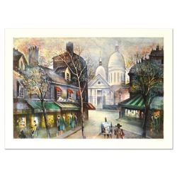 "Antonio Rivera, ""Montmarte"" Limited Edition Lithograph, Numbered and Hand Signed."