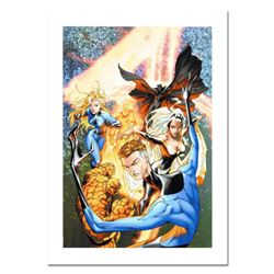 "Marvel Comics, ""Fantastic Four #548"" Numbered Limited Edition Canvas by Michael Turner (1971-2008) w"