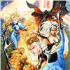 """Image 2 : Marvel Comics, """"Fantastic Four #548"""" Numbered Limited Edition Canvas by Michael Turner (1971-2008) w"""
