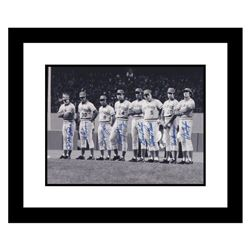 """Big Red Machine Line-Up"" Framed Lithograph Signed by the Big Red Machine's Starting Eight, with Cer"