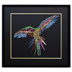 "Patricia Govezensky- Original Painting on Laser Cut Steel ""Macaw XV"""