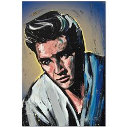 """Elvis Presley (Blue Suede)"" Limited Edition Giclee on Canvas by David Garibaldi, Numbered from Mini"