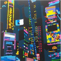 """Ugo Nespolo """"CITY BY NIGHT"""" Original Serigraph"""