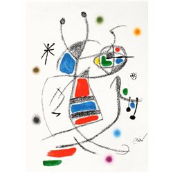 """Joan Miro- Lithograph """"Maravillas con variaciones acrosticas 08"""""""