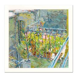 Marco Sassone,  Le Balcon Blueae  Limited Edition Serigraph, Numbered and Hand Signed with Letter of