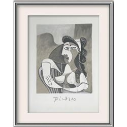 "Pablo Picasso- Lithograph on Arches Paper ""Femme Accoudee au Fauteuil"""