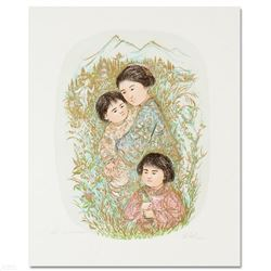 """Leaving the Garden"" Limited Edition Lithograph by Edna Hibel, Numbered and Hand Signed with Certifi"